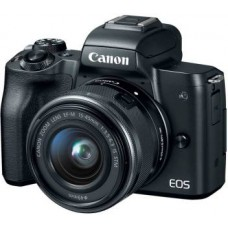 Canon M50 Mirrorless Camera Body with Single Lens EF-M 15-45 mm IS STM  (Black)