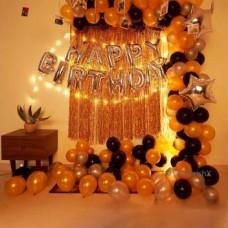 CherishX.Com Solid Silver Foil Happy Birthday Letters