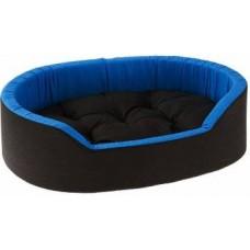 Dogerman Reversible Super Soft Velvet Foam Rectangular Cat Dog Pet Bed S Pet Bed  (Blue, Black)