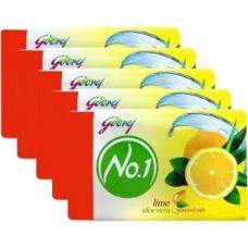 Godrej No 1 Lime & Aloe Vera Soap  (Combo Pack 4 + 1 Free, 100 g each)  (4 x 100 g)