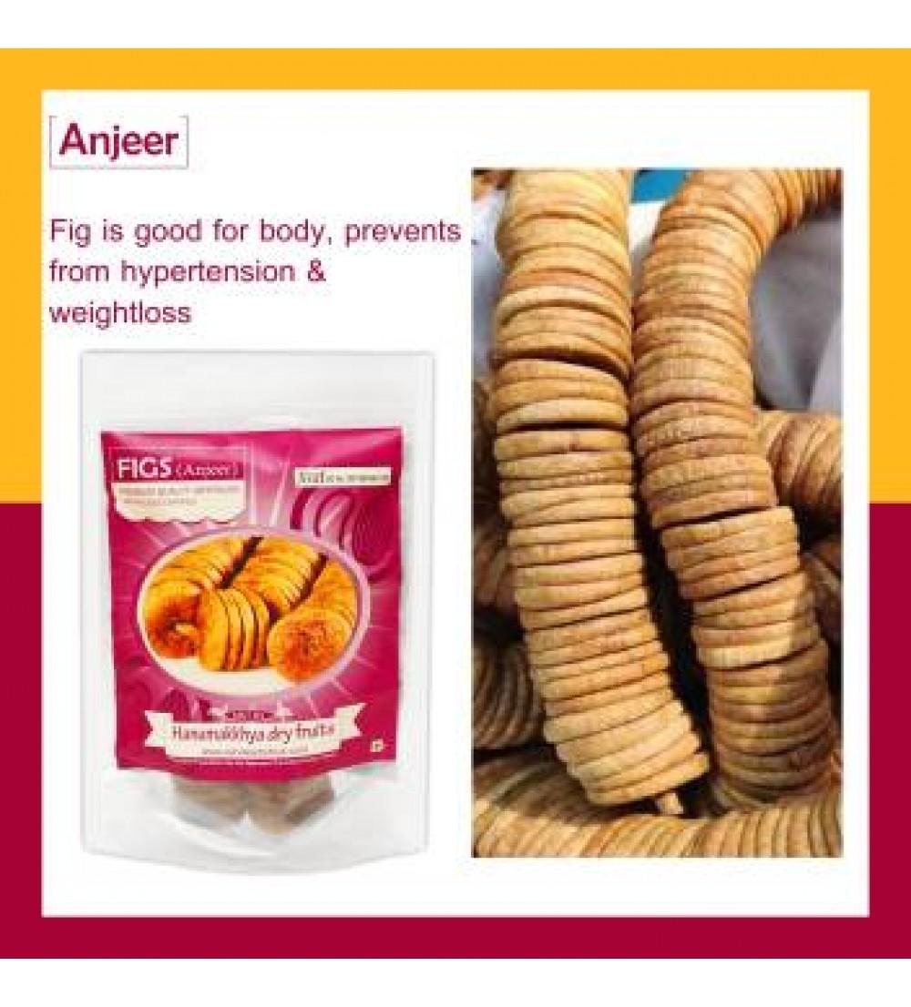 Hanumakkhya Dry Fruits Premium Dried Afghani Anjeer,400gm (GOLD) Figs  (400 g)