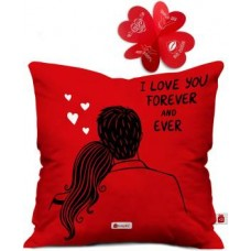Indigifts Cushion, Greeting Card Gift Set