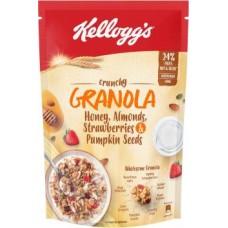 Kellogg's Crunchy Granola Honey, Almonds, Strawberries and Pumpkin Seeds  (450 g, Pouch)