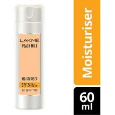 Lakme Peach Milk Moisturiser SPF 24 PA++  (60 ml)