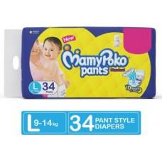 MamyPoko Pants Standard Diapers - L  (34 Pieces)