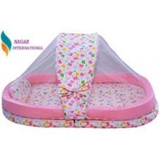 Nagar international Cotton Bedding Set  (Pink)