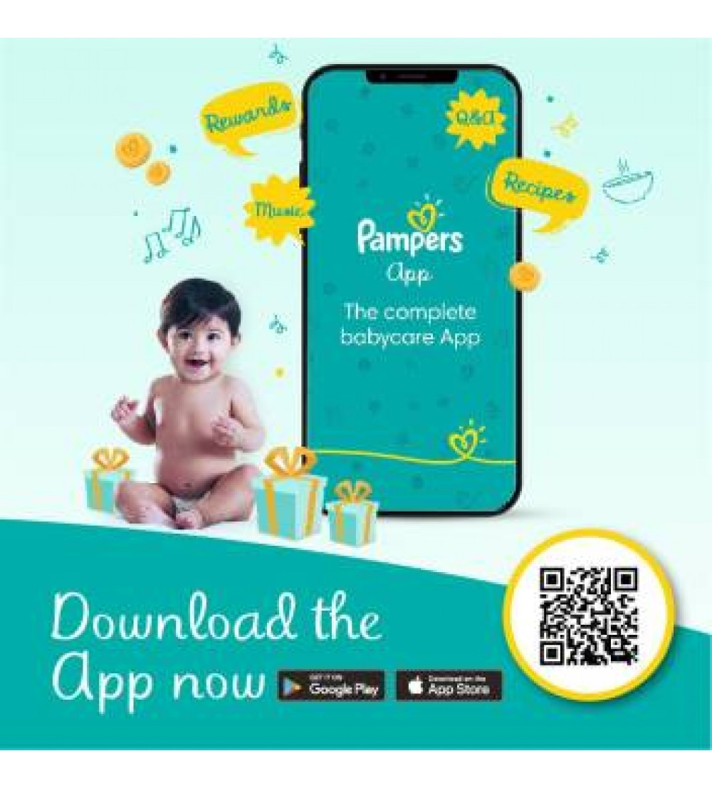 Pampers Diaper Pants Monthly Box Pack Lotion with Aloe Vera - XL  (112 Pieces)
