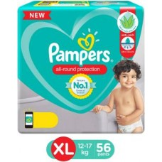 Pampers Lotion with Aloe Vera Pant Style Diapers - XL  (56 Pieces)