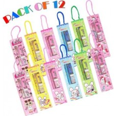 Parteet Birthday Party Return Gifts Mix Stationery Kit Set in a Fancy Box for Kids (Pack of 12)