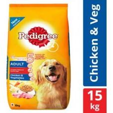 Pedigree Adult Chicken, Vegetable 15 kg Dry Adult Dog Food
