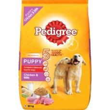 Pedigree Puppy Dry Dog Food, Chicken & Milk Chicken 20 kg Dry New Born Dog Food