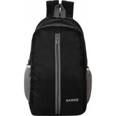 Sassie Black School Bag II Genuine Backpack II Multiuse bag II Smart Tuition Bag (21 Ltr) (SSN-1060) (Secondary 3rd Std Plus) Waterproof School Bag  (Black, 21 L)