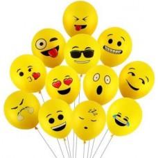 Smartcraft Printed Emoji Balloons Latex Yellow Emoji Smiley Balloons (Pack Of 25) Balloon  (Yellow, Pack of 25)
