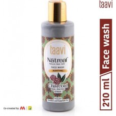 Taavi Natreal Purifying Charcoal - NO Harmful chemicals, only real ingredients Face Wash  (210 ml)