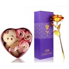 Golden Rose With Love Packet Gift Set