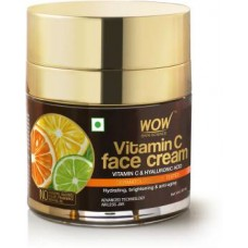 WOW Skin Science Vitamin C Face Cream - Oil Free, Quick Absorbing - For All Skin Types - No Parabens, Silicones, Color, Mineral Oil & Synthetic Fragrance - 50mL  (50 ml)