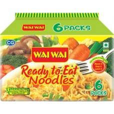 Wai Wai Instant Noodles Vegetarian  (6 x 70 g)