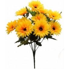 Zahuu Decorative Artificial Sunflower Flower Bunches Yellow Sunflower Artificial Flower  (18 inch, Pack of 10)