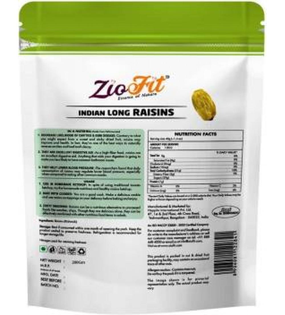 Ziofit Indian Long Raisins  (Buy 1 Get 1 (200g Each) Free)  (200 g)