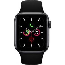 Apple Watch Series 5 GPS + Cellular 40 mm Space Grey Aluminium Case with Black Sport Band  (Black Strap, Regular)