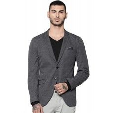 Jack & Jones  Solid Single Breasted Casual Men Full Sleeve Blazer  (Grey)