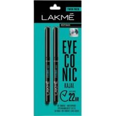 Lakme Eyeconic Kajal Twin Pack  (Deep Black, 0.7 g)
