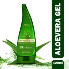 LA Organo Aloe Vera Gel 120ml - 99% Pure Soothing Aloe Vera Gel  (120 ml)