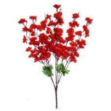 Shrih Peach Blossom Red Assorted Artificial Flower  (55 inch, Pack of 1)