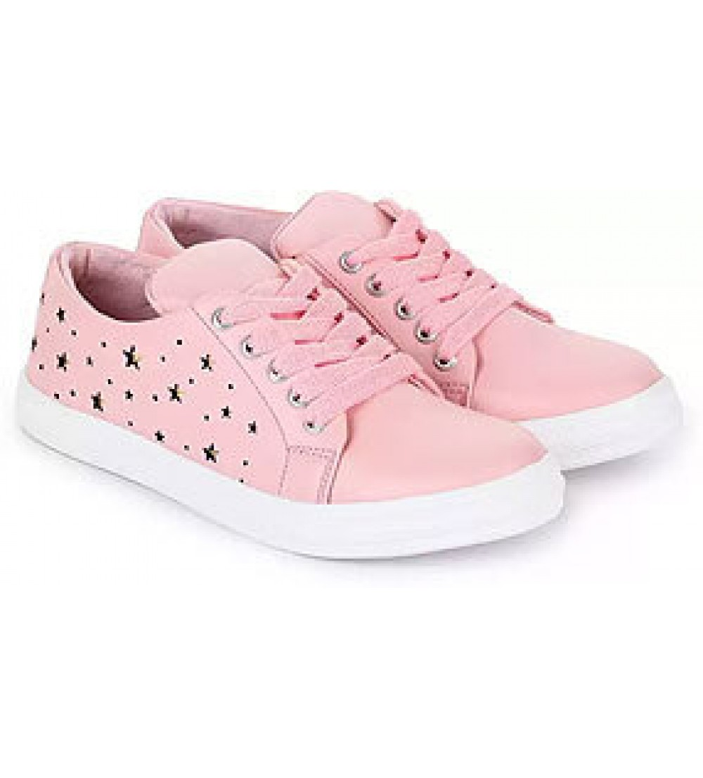 Synthetic Leather Casual Sneaker shoes for Women